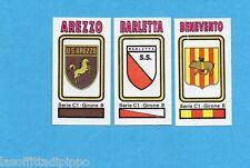 PANINI CALCIATORI 1978/79-Figurina n.518- AREZZO+BARLETTA+BENEVENTO-SCUDETTO-Rec