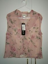 Katies Brand Dusty Pink Floral 2 Piece Top, Size 10  * Brand New with Tags *
