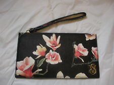 VICTORIA'S SECRET Leather Like Floral Wallet Mini Clutch Purse NWT $39.50