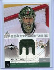 2002-03 UPPER DECK MASK COLLECTION MASKED MARVELS MARTY TURCO GAME USED JERSEY