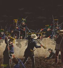 THE ALAMO ATTACK ON THE NORTH EAST WALL ART PRINT