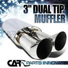 """3"""" Outlet Dtm Dual Tilt Slant Tip Muffler Exhaust w/ 2.5"""" Inlet"""