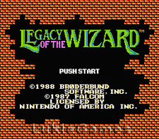 Legacy Of The Wizard - NES Nintendo Fun RPG