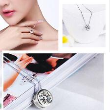 Latest Elegant Round Single Rhinestone Crystal Pendant Simple Stylish Necklace