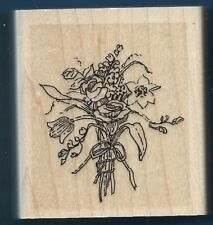 FLOWERS Botanical BOUQUET Occasion Card Stampin Up! 1997 Wood Mount RUBBER STAMP