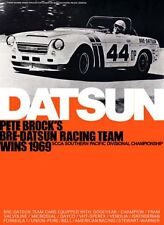 BRE Datsun Roadster 1969. BRE - Datsun Racing Team Car Poster!!!