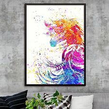 """Beautiful Abstract Watercolor Appaloosa Horse Canvas Print Poster Colour 16X12"""""""