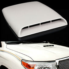 NEW Universal Car Decorative Air Flow Intake Hood Scoop Vent Bonnet Cover White
