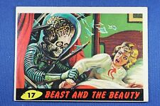 1962 Topps Bubbles - Mars Attacks - #17 Beast And The Beauty Excellent Condition