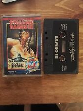 RAMBO III (3) - THE HIT SQUAD Release Commodore 64 128 Single Tape