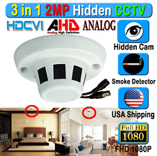 3in1 HD Hidden Camera 2MP CCTV HD CVI AHD Analog CVBS Fake Smoke Detector Dome