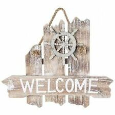 Nautical Welcome Sign Wood Wall Plaque - Nautical Decor - Beach Cottage Decor