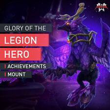 Glory of the Legion Hero Achievement Reins of the Leyfeather Hippogryph Mount