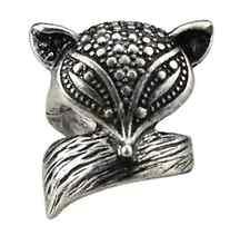 Vintage retrò stile effetto antico volpe anello con ciondolo