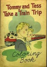 1950's Coloring Book TOMMY and TESS Take a Train Trip ASSOC. AMERICAN RAILROADS
