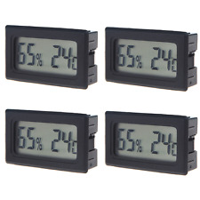 4Pcs Mini Digital LCD Indoor Thermometer Hygrometer Humidity Temperature Meter