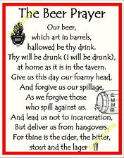 Handmade Plaque Special Gift Sign funny Novelty Birthday Present 'Beer Prayer'