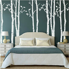 White Birch Tree Wall Stickers Decal Removable Vinyl Art Mural Room Decorative