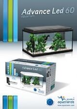 ACQUARIO BIANCO O NERO SET AQUATLANTIS 60x30x30 LED LT.54 COMPLETO DI ACCESSORI