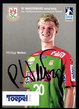 Philipp Weber Autogrammkarte SC Magdeburg 2012-13 Original Signiert + A 103654