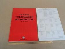 DEPLIANT ORIGINALE VOLKSWAGEN SCIROCCO 1981 PROSPEKT BROCHURE