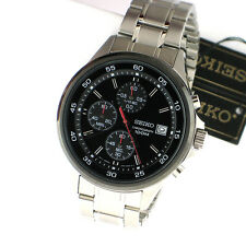 Seiko SKS491 Chronograph Date Silver Tone Stainless Steel Link Band Mens Watch