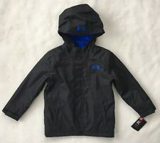 UNDER ARMOUR Boys Winter Coat SIZE 4 Wildwood 3 In 1 Storm Jacket Black NEW $120