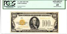 Fr.2405 $100 1928 Gold Certificate PCGS Apparent Extremely Fine 45- Gorgeous!!!
