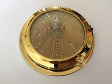 Roof light 12V Interior Brass 140MM Base  Boat/Caravan/Horseboxes