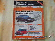 RTA PEUGEOT 405 DIESEL ET TURBO BERLINE ET BREAK N°500 FEV 1989     J50
