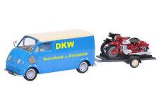 """Schuco DKW Schnellaster mit Motorradanhänger """"DKW RT125 - RT130"""" 1:43"""