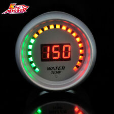 "New White Auto Car 2"" 52mm Red Digital Color 20 LED Water Temp Temperature Gauge"