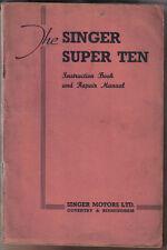 SINGER Super dieci 1193cc ORIGINAL Instruction Book & riparazione manuale non datato