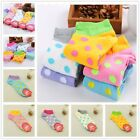 5 10 Pairs Lot Womens Ladies Cute Big Polka Dots Cotton Ankle Socks Multi Colors