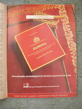 Vtg Advert 70s Dunhill Cigarettes Packet+Gold lighter on tooled leather 1973 Mag