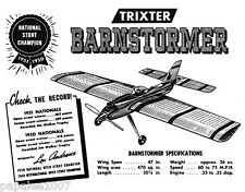 "Model Airplane Plans (UC): Trixter Barnstormer 47"" Stunt for .29-.25 (Guillows)"