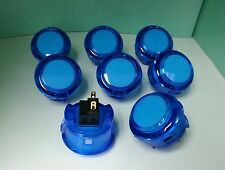 Japan Sanwa Crystal Buttons x 8 pcs OBSC-30-CB Clear Blue Color Video Game Parts