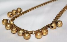 Vintage Astounding Early MIRIAM HASKELL Gold Gilt Etched Bookchain Necklace ND