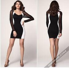 Kleider Schwarz Weiss Sexy Designer Celebrity Dress Abendkleid S M LA FERANI