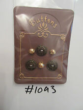 #1093 Lot of Metallic Effect Vintage Buttons