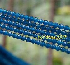 "4mm Faceted Apatite Round Loose Beads Gemstone 15""AAA"