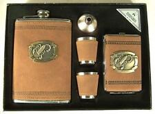 CIGARETTE CASE FLASK AND SHOT GLASS SET WITH SCORPION drink gift set new