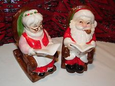 LEFTON-SANTA AND MRS CLAUS ROCKERS CHRISTMAS FUND BANKS-VINTAGE-VERY COLORFUL!!