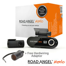 Road Angel Halo 16GB SD Card Dash Cam HD Front & Rear Car Camera + Hardwire Lead