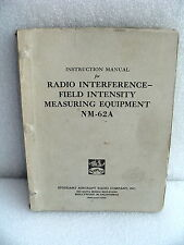 Stoddart / Eaton / Ailtech NM-62A Field Intensity Instruction & Service Manual
