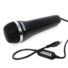 "Logitech ""Konami"" USB Black  Microphone for Wii Karaoke or Singing Games"