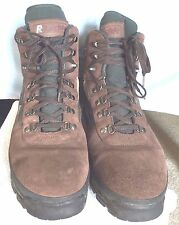 Mens Raichle Brown Suede Leather Hiking Trail Boots SZ 14 Good Shape