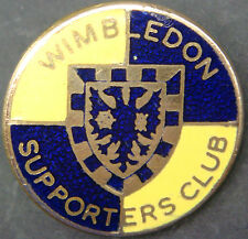WIMBLEDON Vintage SUPPORTERS CLUB Badge Brooch pin In gilt 25mm Dia