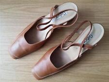 Damen Schuhe Sandaletten Slingbacks GABOR Gr 41 UK7 cognac braun Leder Top