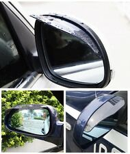 2 Pcs Universal Rear View Black Side Mirrors Rain Snow Shield Car Auto Eyebrow